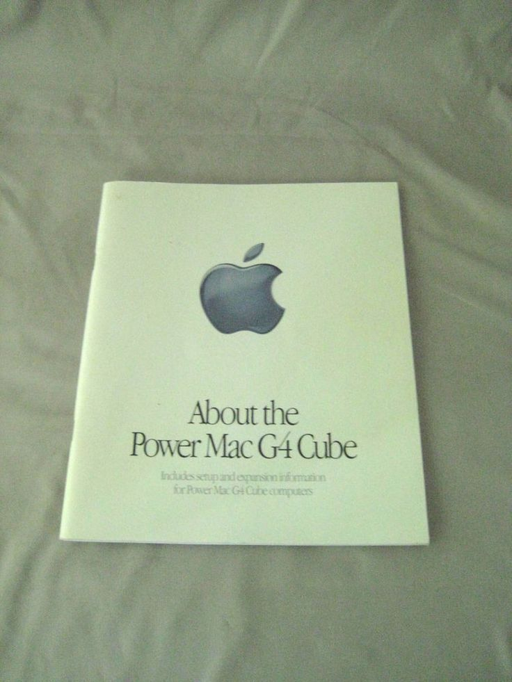 Vintage Power Mac G4 Cube Computer set up Brochure and Expansion Instructions  | eBay