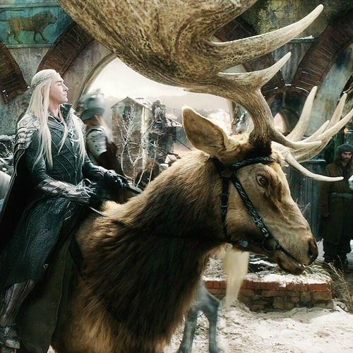 Thranduil and his Elk...   Hobbitlove   Pinterest ...