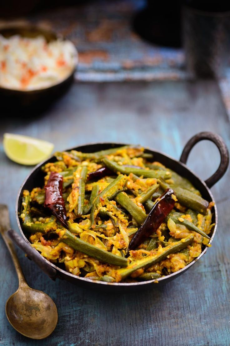 Moongphali Bhindi is a dry lady's finger recipe where they are are cooked with peanuts. Try this delicious and different dish and you will surely love it.#Vegetarian #Sabzi #Indian #Sabji #Bhindi