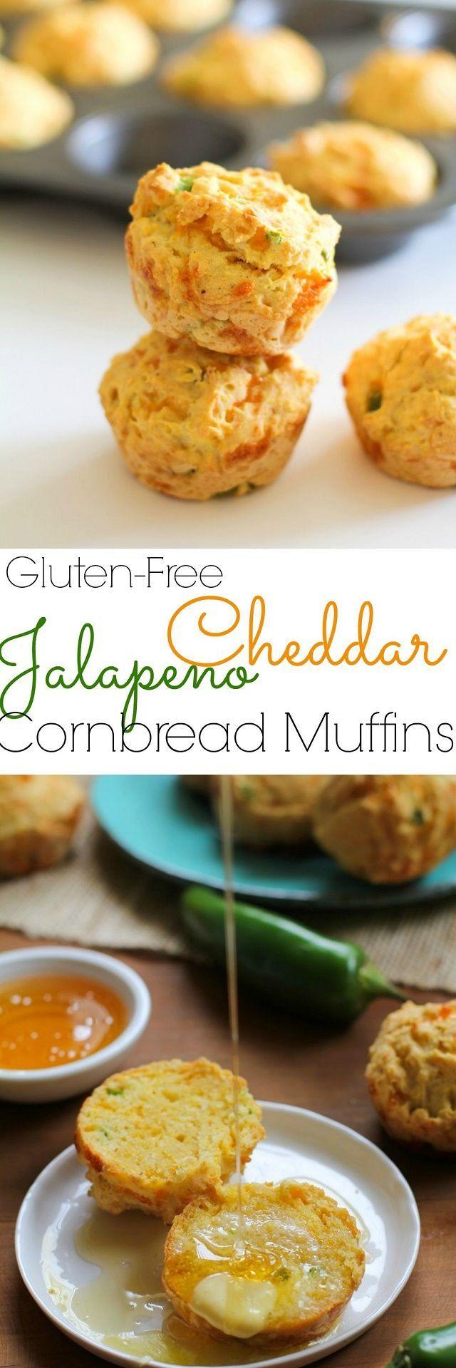Gluten-Free Jalapeno Cheddar Cornbread Muffins   TheRoastedRoot.net #recipe @bobsredmill