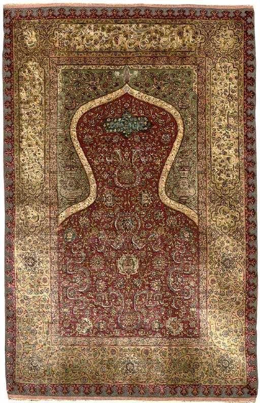 Kapi Istanbul Prayer Rug Ca 1910 From An Armenian Work