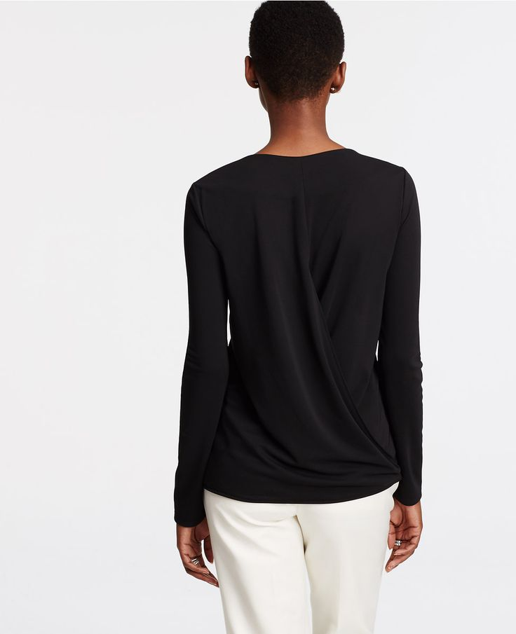 Ann Taylor Wrap Back Top | ANN TAYLOR saved by #ShoppingIS