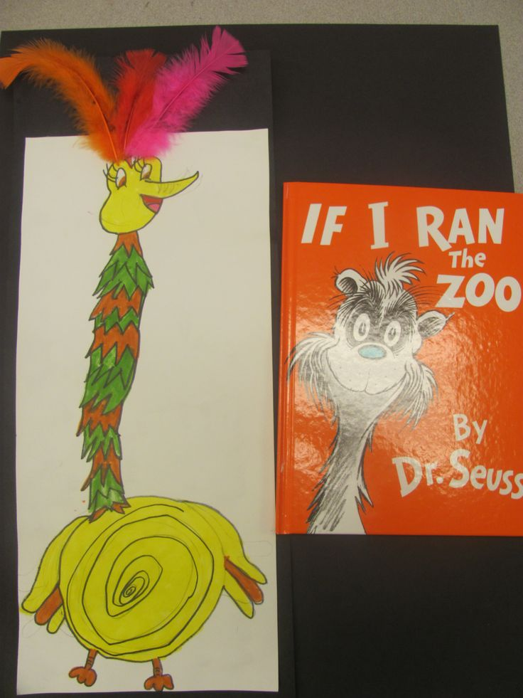 Dr. Seuss If I Ran The Zoo  A tizzle topped Mazurka from the island of Yerka.  2nd Grade.