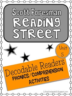 Life in First Grade: Reading Street Decodables Unit 5- free download