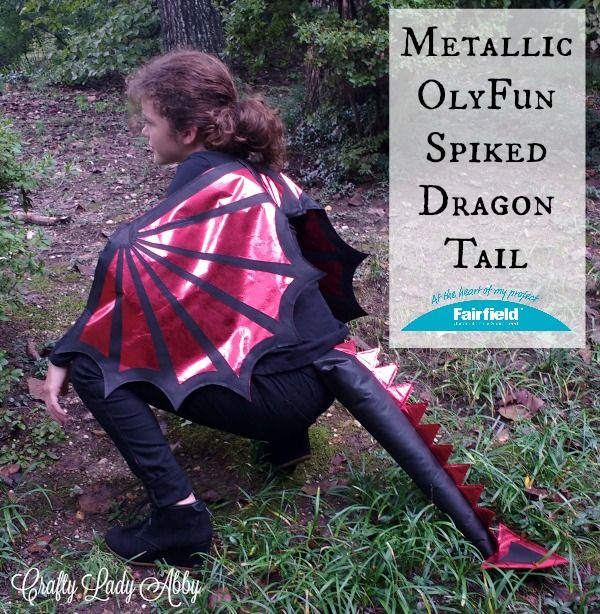 halloween is quickly approaching so its time to make your halloween costumes this metallic olyfun spiked dragon tail goes with my metalli