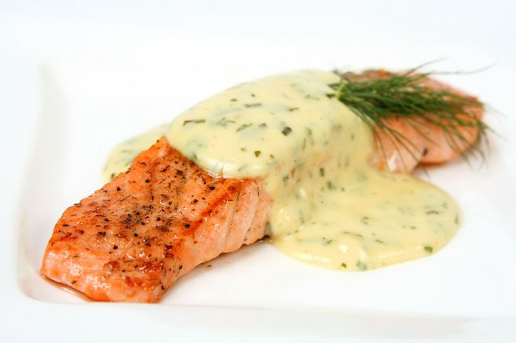 *Roasted Salmon with Dill Sauce  Savanna: delicious and super easy! Just warmed it up before serving