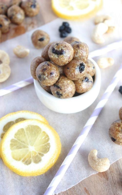 Lemon and Blueberry Energy Bites