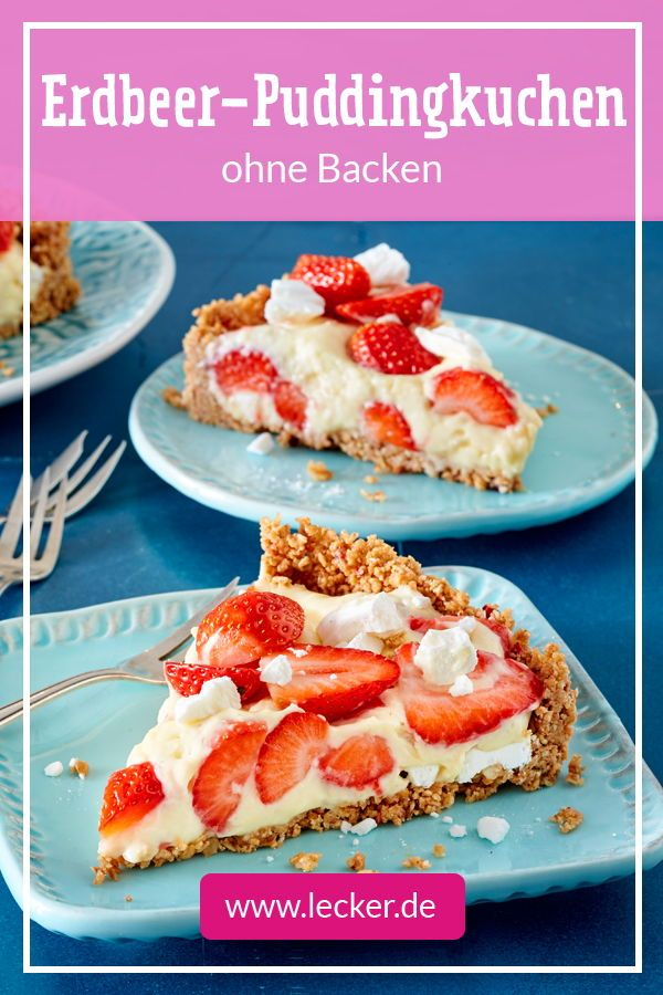 Erdbeer-Pudding-Kuchen ohne Backen