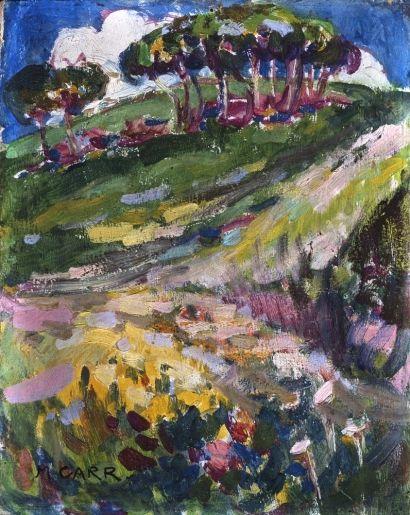 lesfemmesartistes: Emily Carr, Untitled (Hillside in France), 1911.