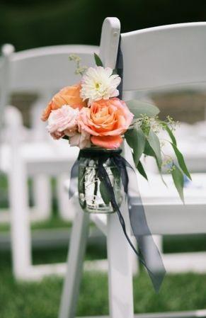 navy and coral elegant wedding invites   Elegant Navy, Grey and Coral Garden Wedding