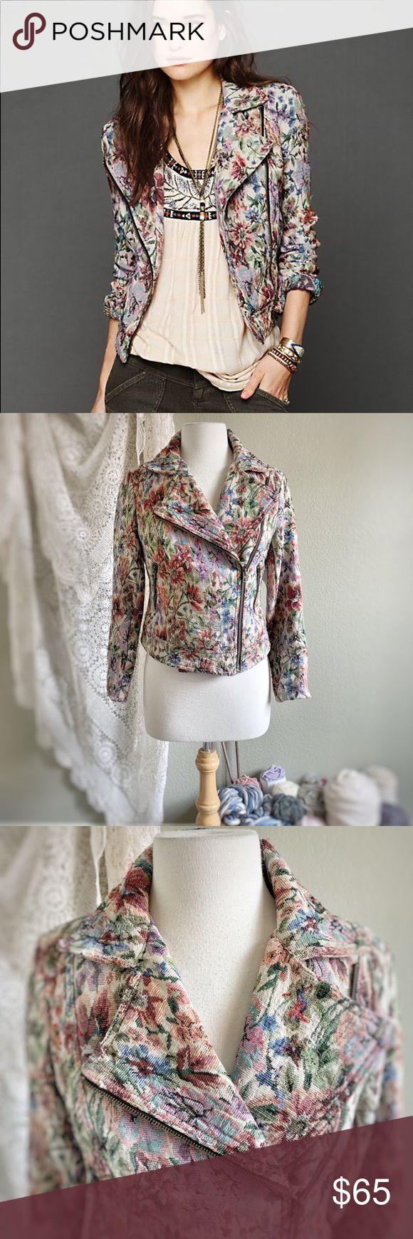 FREIE MENSCHEN Floral Tapestry Moto Jacket Free People – Größe 6 Wunderschöne …   – My Posh Picks