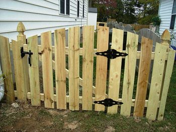 Noble Fence - Our Work - Unparalleled quality in Fence ... |Wood Fence Gate Hinges