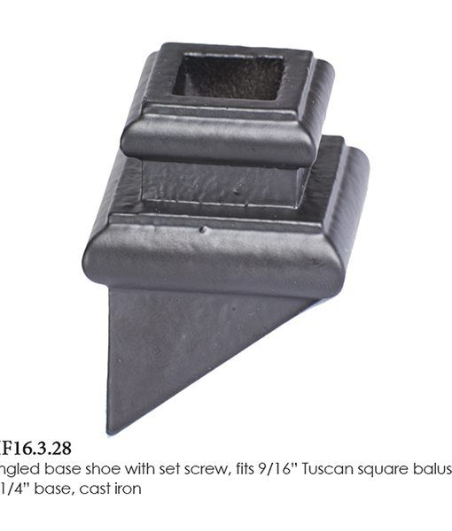 Best 16 3 28 Angled Base Shoe With Set Scr*W Modern Stair 640 x 480