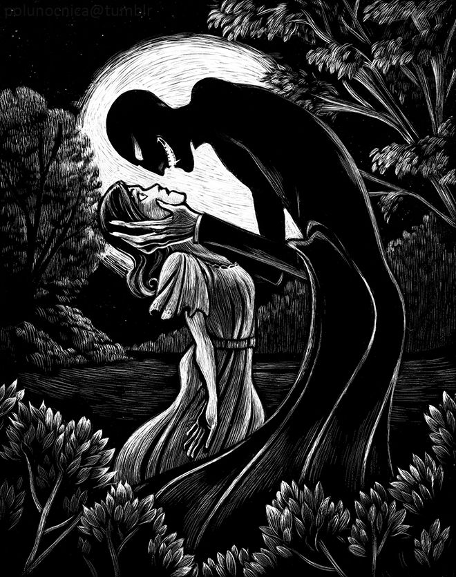 polunocnica: Illustrations based on the classic Dracula film for class. All in scratch board- my first time using it, found it pretty enjoyable!  via Tumblr