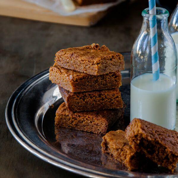 Caramelised White Chocolate Brownies (gluten-free)