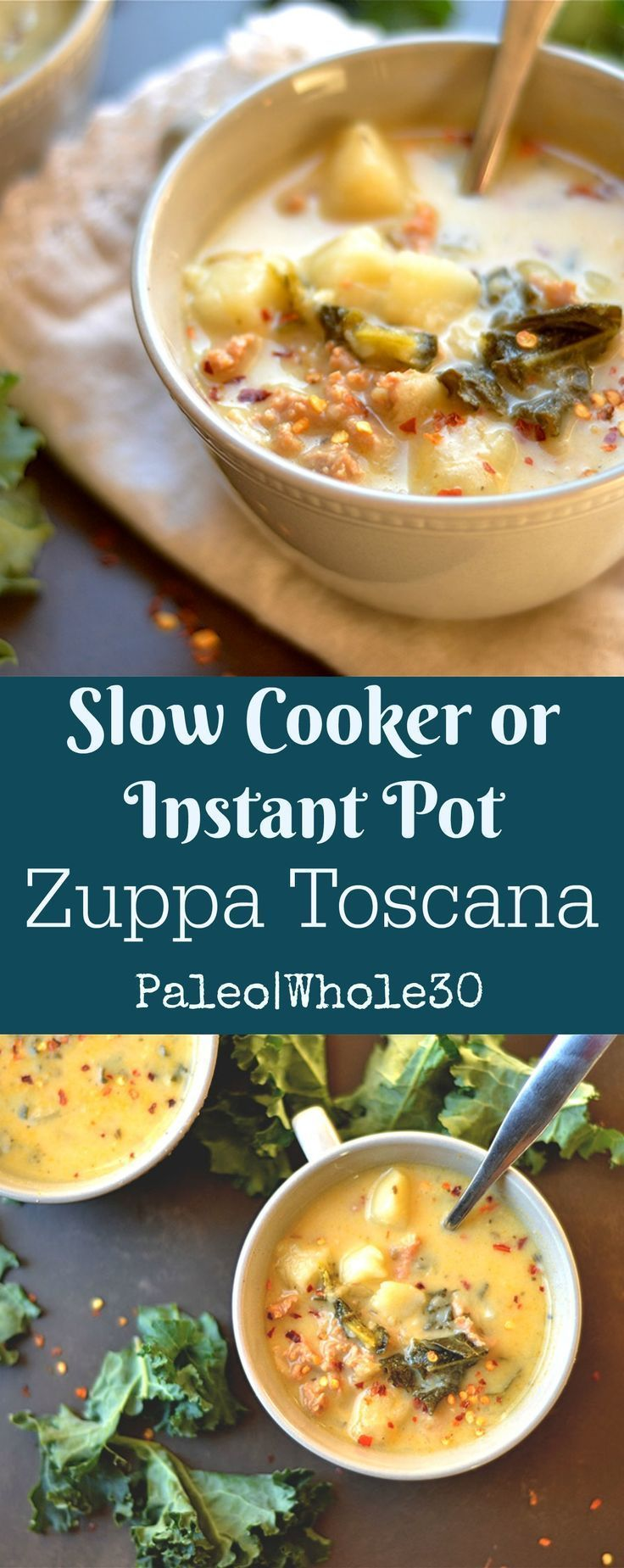 This classic soup has all the SAME flavor you love, and made so easily in the Instant Pot or Slow Cooker!