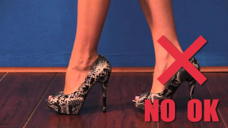 How to walk in heels! -- Despite what one may feel about the presenter (I think she is upbeat and fun) there is a lot of good information in the video on how to walk in heels without looking like a fool!