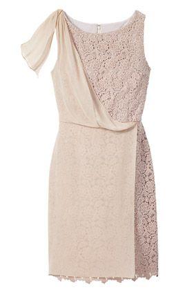 Asymmetrical draped crochet dress by Ann Taylor - takes crochet ti the Gala!