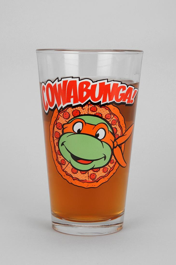 Teenage Mutant Ninja Turtles Pint Glass #urbanoutfitters