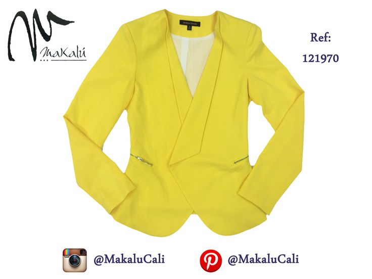Un blazer perfecto para un día en la oficina, irradia alegría con un color como este! #modafemenina #makalu #makalucali #tendencias #ropaamericana #fashionweek #outfit #neon #moda #cali #colombia #blazer