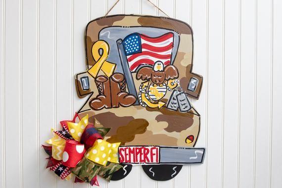Semper Fi Marine Door Hanger Celebrates Our Troops Https Www