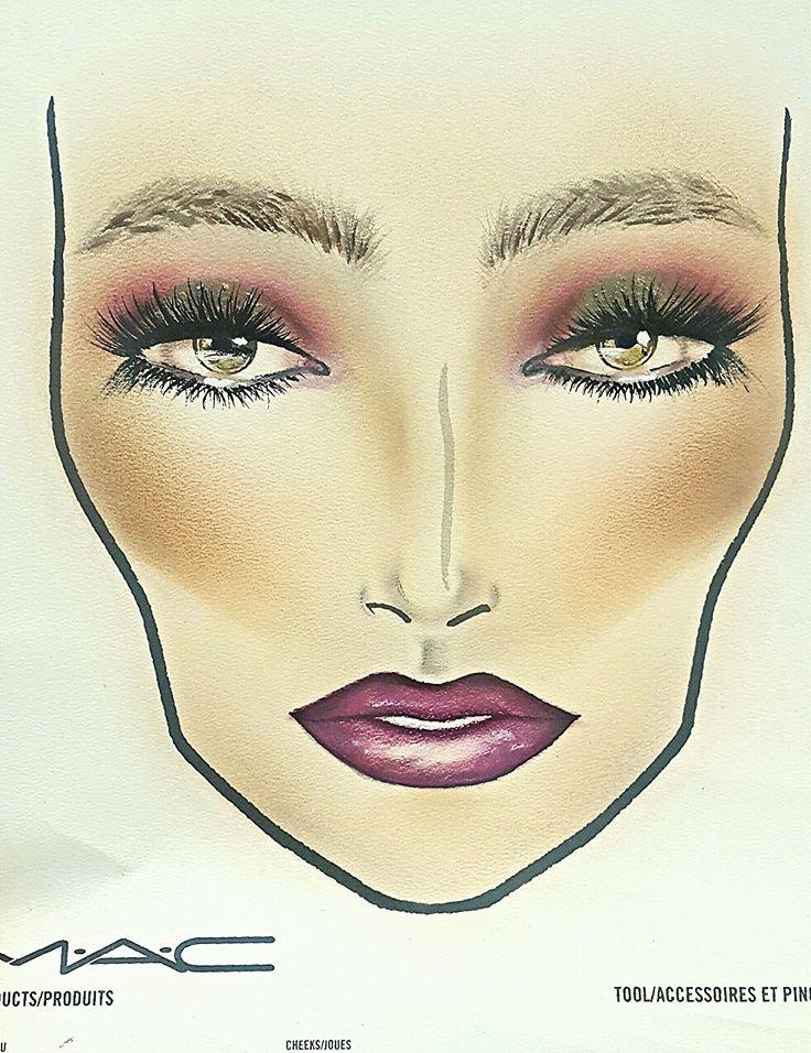 Face chart Mac Cosmetics