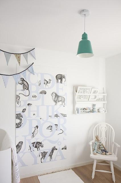 chambre d'enfant en blanc