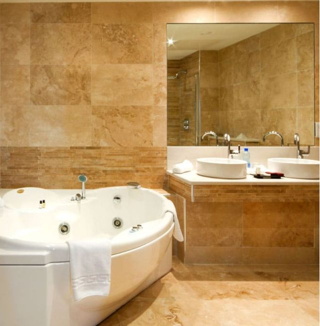 Photo Gallery In Website The harmony of traditional and modern with beige travertine tiles sefastone travertinetiles