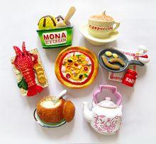 1 Parça Yaratıcı Gıda Şekli Sevimli Istakoz Dondurma Cappuccino Buzdolabı Hatıra Mıknatıslar Sticker Ev Dekor Iş Hediye TZ57(China (Mainland))