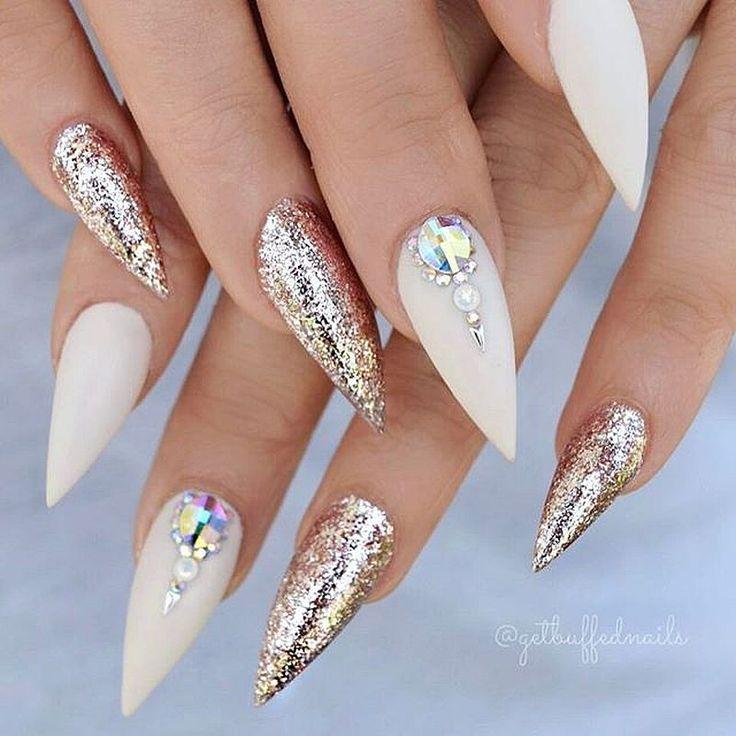 Acrylic Nail Designs Tumblr Glitter