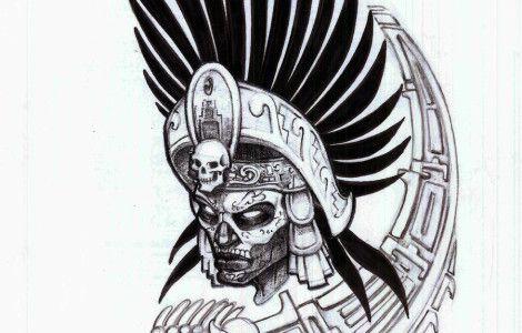 aztec warrior tattoo sketches