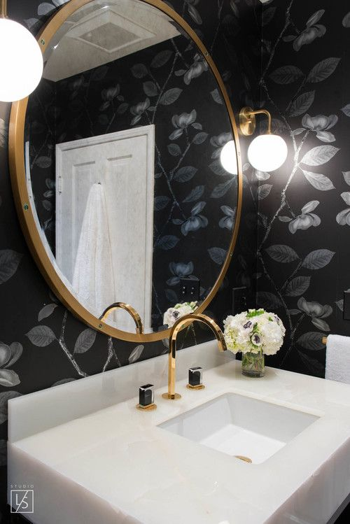 1000 ideas about circle mirrors on pinterest entrance - Round mirror over bathroom vanity ...