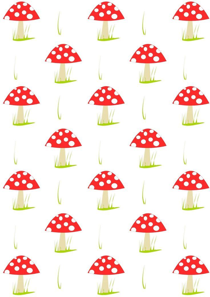 Free digital mushroom scrapbooking paper - ausdruckbares Geschenkpapier - freebie | MeinLilaPark – DIY printables and downloads