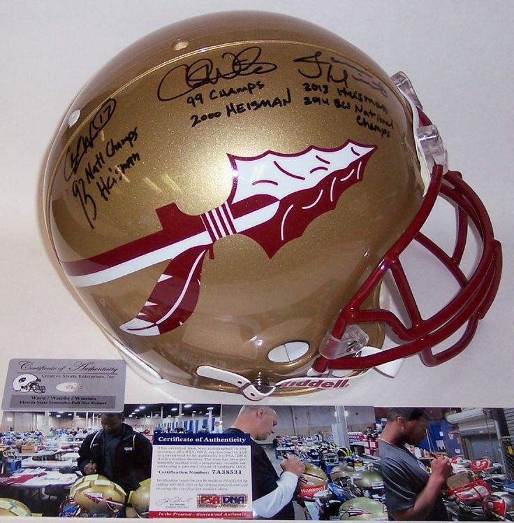 Jameis Winston / Charlie Ward / Chris Weinke - Official Full Size Riddell Authentic Proline Football Helmet - FSU Seminoles - PSA/DNA!