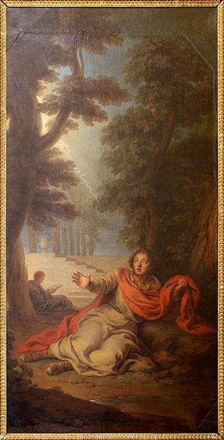 """""""Conversão de Agostinho de Hipona"""". (1775). (by Charles-Antoine Coypel). Château de Versailles."""