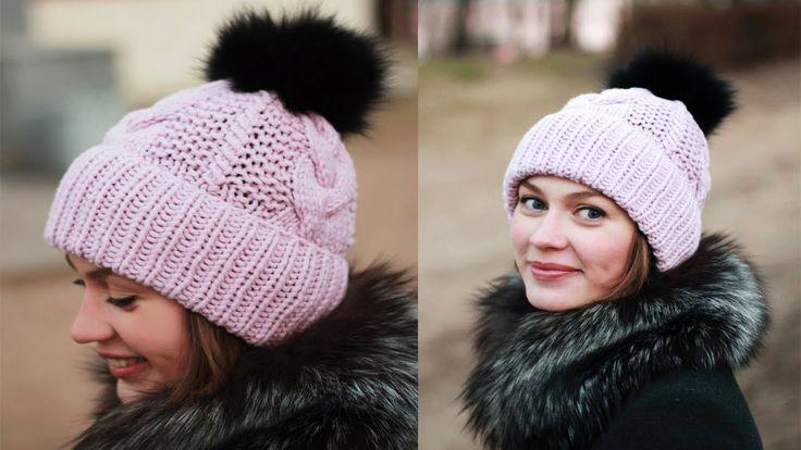 Вязание шапки спицами - Шапка спицами вязаная. Как связать шапку? #KnitM...