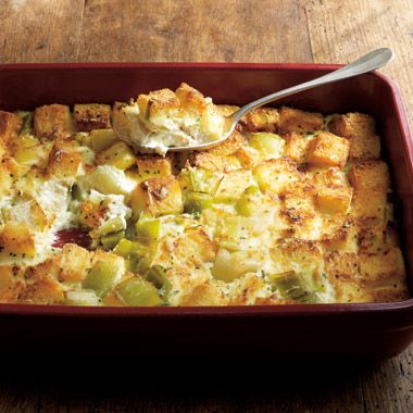 Chef Thomas Keller's Leek Bread Pudding (from Ad Hoc at Home)