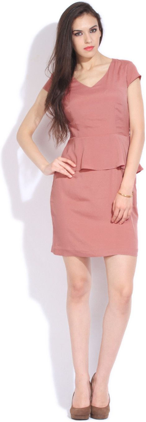 Avirate Women's Peplum Dress - Buy PINK Avirate Women's Peplum Dress Online at Best Prices in India | Flipkart.com