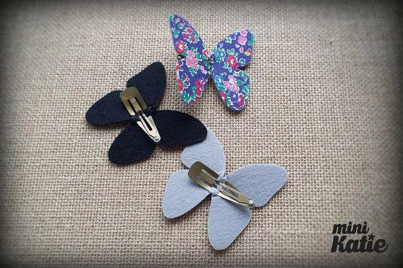 mini Katie Liberty London single Butterfly Hair Barrette Hair