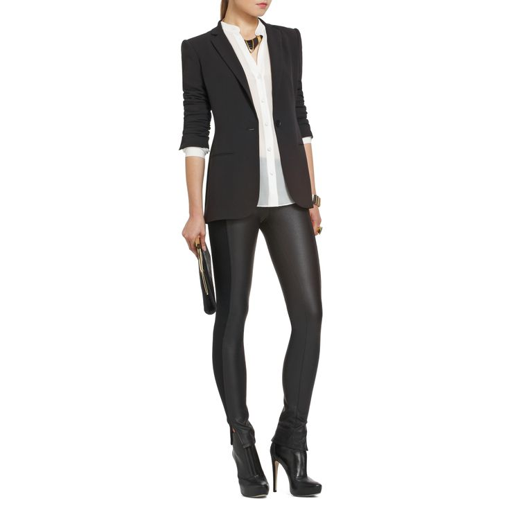 plan to recreate @BCBG MAX AZRIA's urban-rock look with my own leather-blocked pants and blazer this fall...or more likely, winter, since this is south florida.