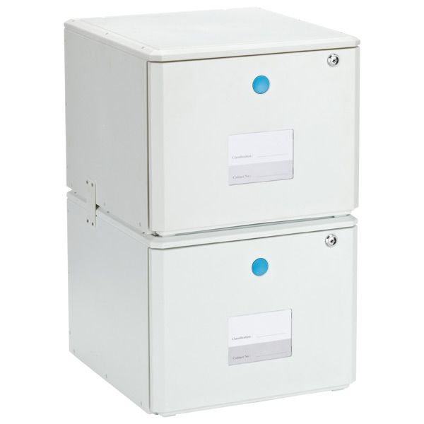 One Touch Stackable Locking File Drawer