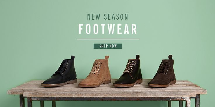 Ben Sherman Menswear Website Banner Slider | Men's Spring 2013 Footwear
