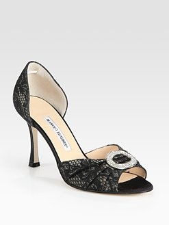 christian louboutin shoes for men - christian louboutin peep-toe d'Orsay pumps Black satin jewel ...