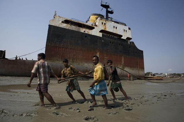 Chittagong, Bangladesh (famous for ship-breaking)