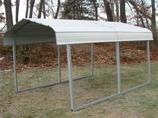 MDM Rhino Shelters All-Steel Buildings RV Steel Carport in Grey > RV storage boat storage UV Resistant Coating