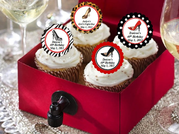 Stiletto High Heel Shoe Cupcake Toppers Decorations
