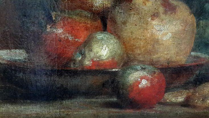 Жан Батист Симеон Шарден (1699 — 1779) Бокал с оливками, 1760, фрагмент