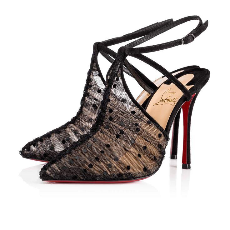 Acide Lace 100 Version Black Plum Tulle Dentelle - Women Shoes - Christian  Louboutin