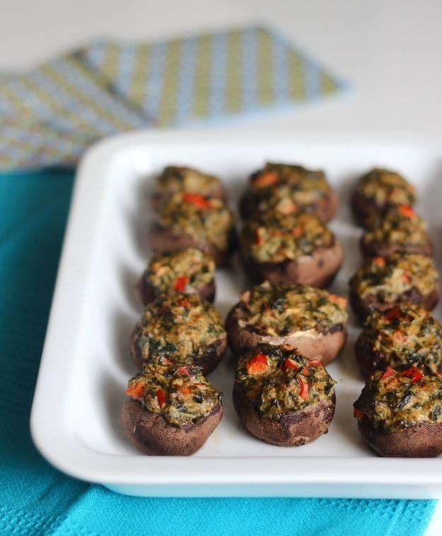 Vegan Spinach Stuffed Mushrooms | 32 Vegan Recipes That Are Perfect For Thanksgiving