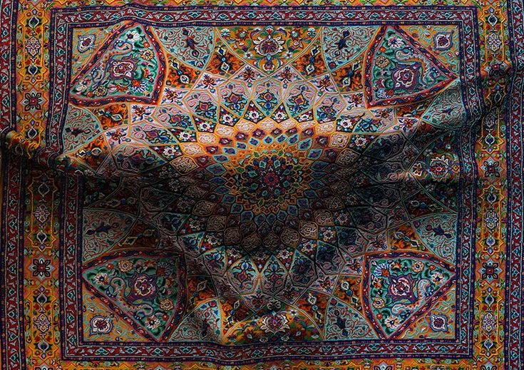 New York-based artist Antonio Santin produces incredibly realistic painting of intricate decorative rugs with an intriguing twist - bulges and creases that give the illusion of something hidden beneath the surface.  More art on the grid via Colossal